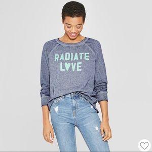 Zoe + Liv | NWT Radiate Love Blue Sweatshirt Small